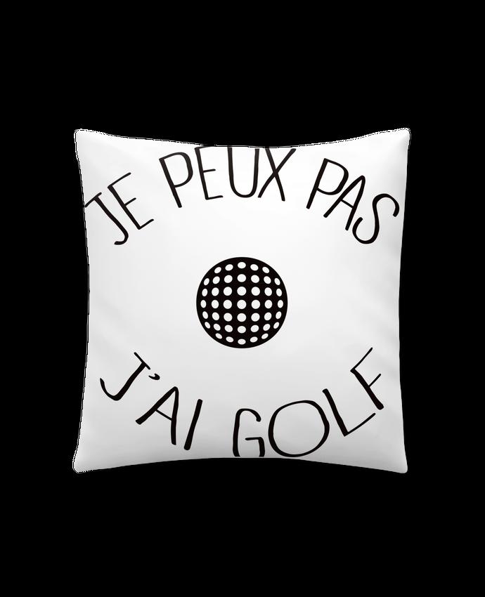 Coussin Synthétique Doux 41 x 41 cm Je peux pas j'ai golf par Freeyourshirt.com
