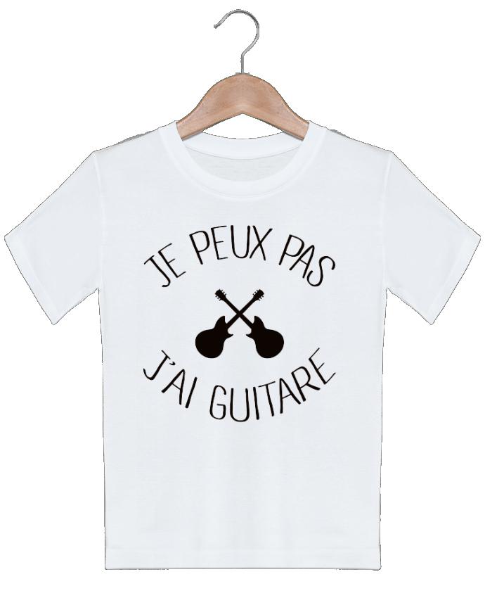 T-shirt garçon motif Je peux pas j'ai guitare Freeyourshirt.com