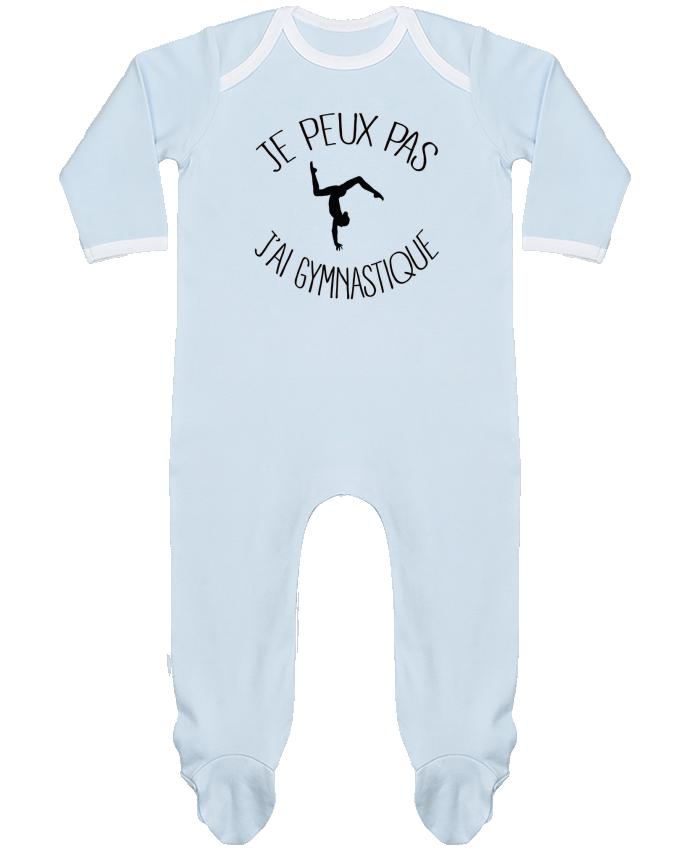 Pyjama Bébé Manches Longues Contrasté Je peux pas j'ai gymnastique par Freeyourshirt.com