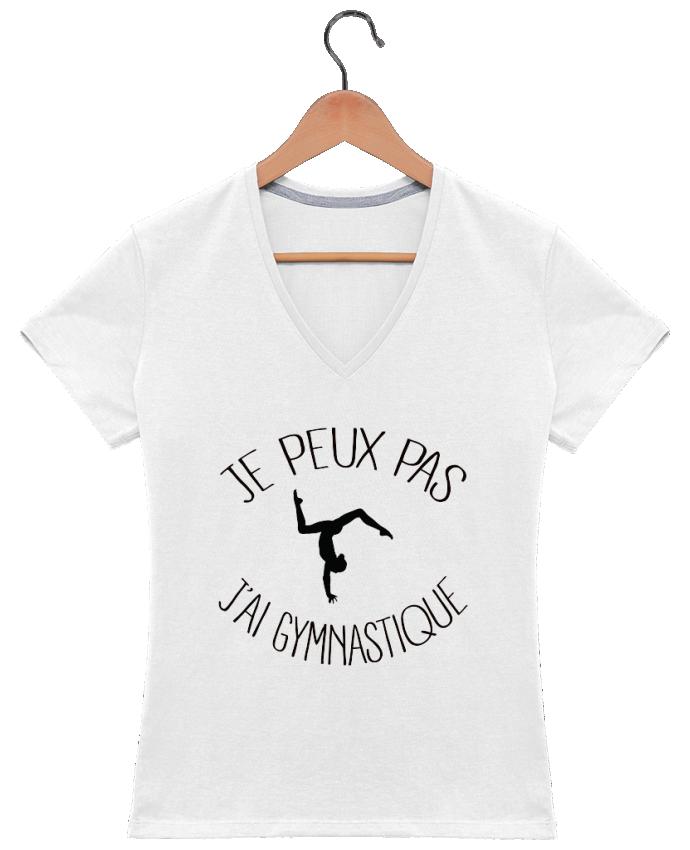 T-shirt Col V Femme 180 gr Je peux pas j'ai gymnastique par Freeyourshirt.com