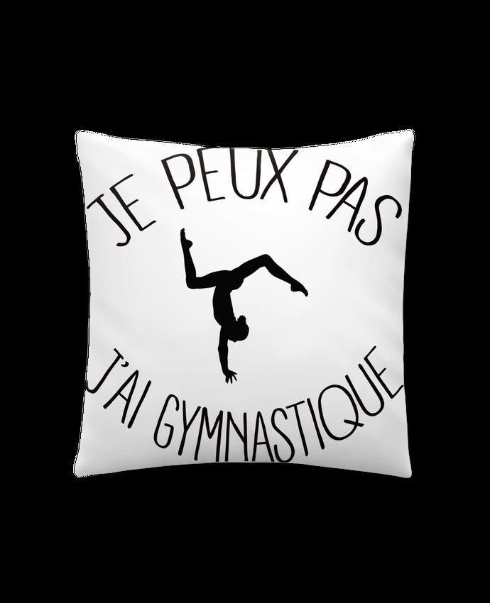 Coussin Synthétique Doux 41 x 41 cm Je peux pas j'ai gymnastique par Freeyourshirt.com
