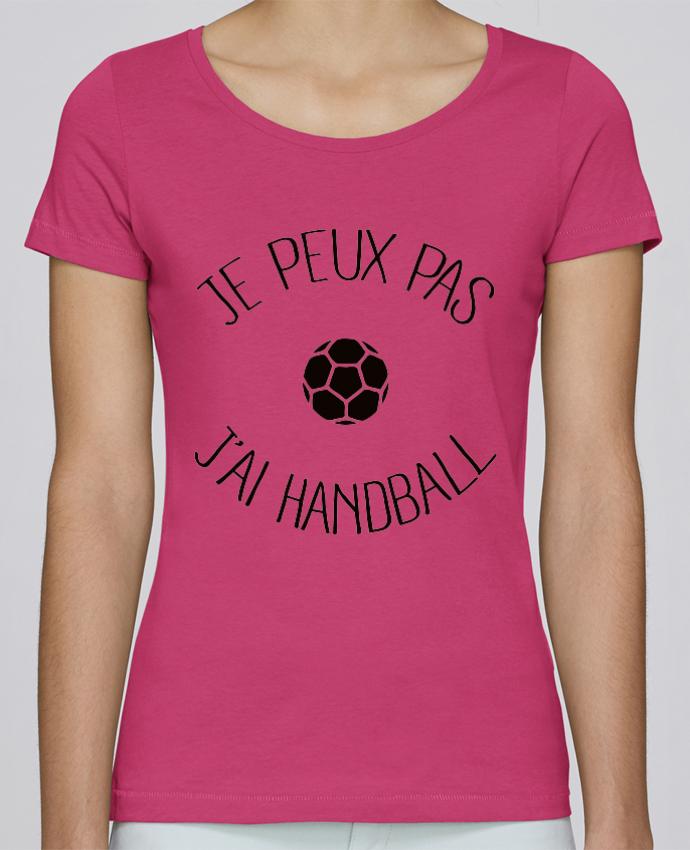 T-shirt Femme Stella Loves Je peux pas j'ai Handball par Freeyourshirt.com