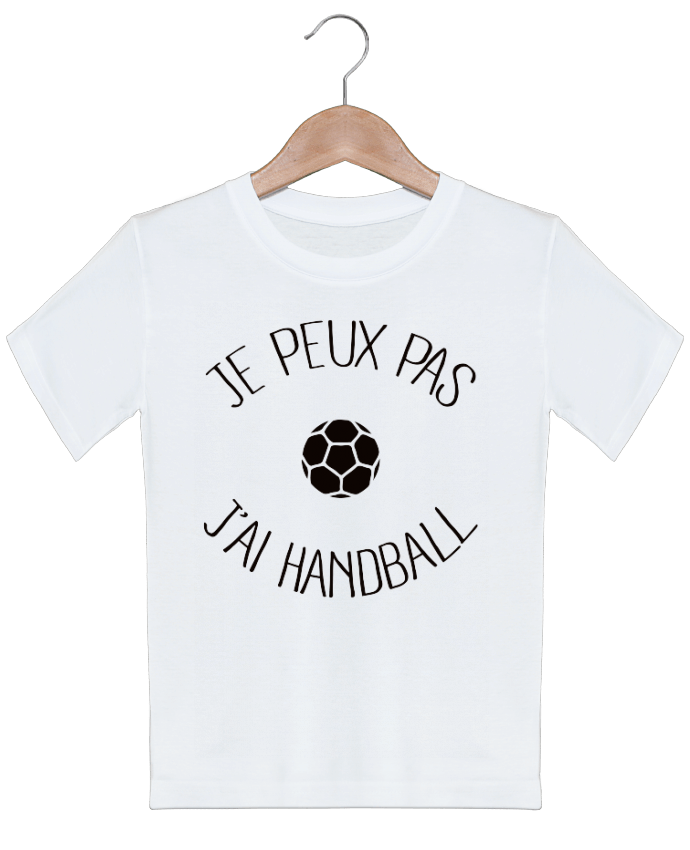T-shirt garçon motif Je peux pas j'ai Handball Freeyourshirt.com
