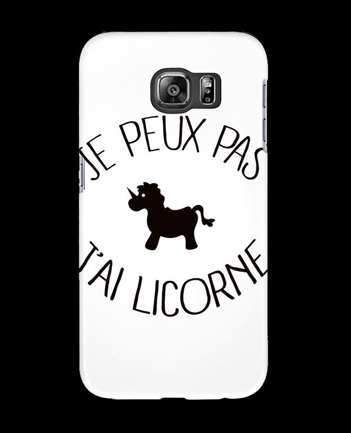 Coque 3D Samsung Galaxy S6 Je peux pas j'ai licorne - Freeyourshirt.com