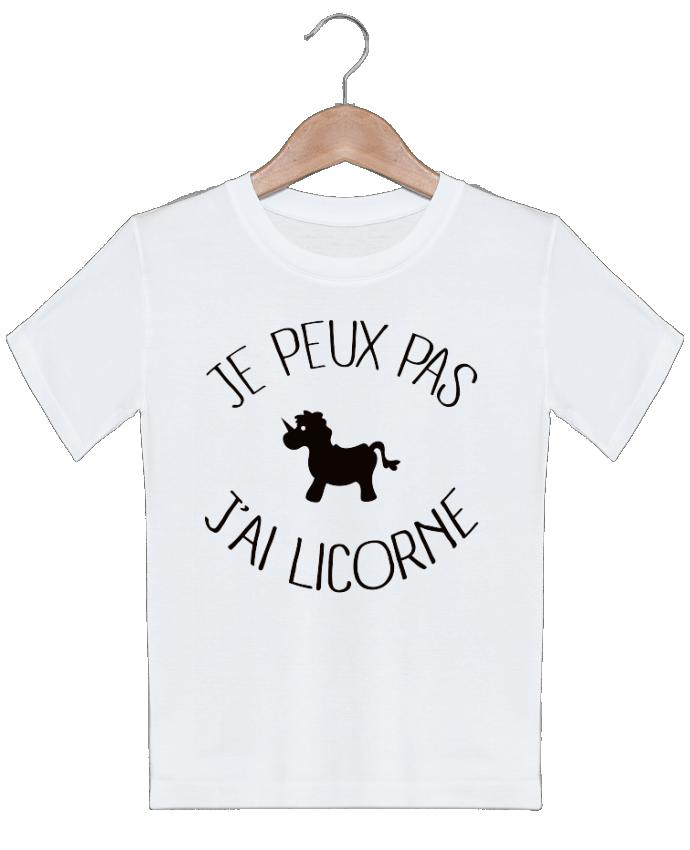 T-shirt garçon motif Je peux pas j'ai licorne Freeyourshirt.com