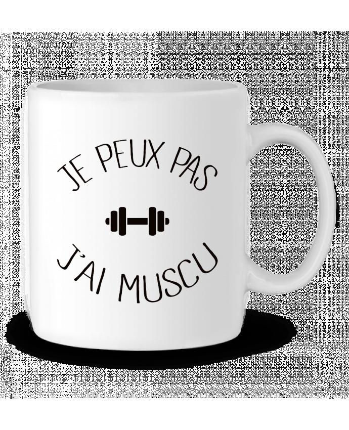 Mug en Céramique Je peux pas j'ai Muscu par Freeyourshirt.com