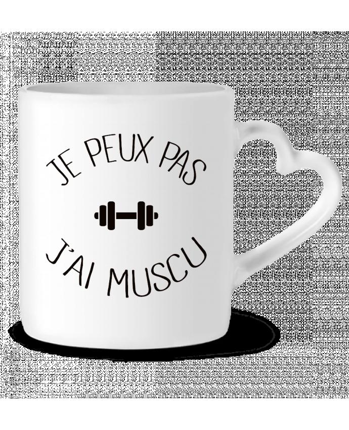 Mug Coeur Je peux pas j'ai Muscu par Freeyourshirt.com
