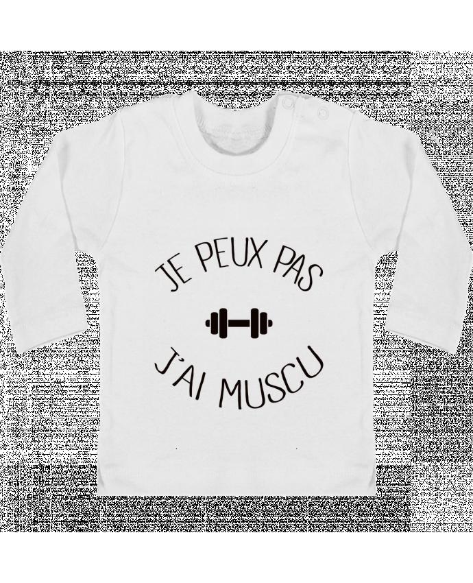 T-shirt Bébé Manches Longues Boutons Pression Je peux pas j'ai Muscu manches longues du designer Freeyourshirt.com