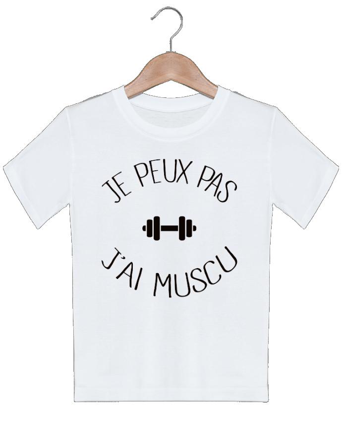 T-shirt garçon motif Je peux pas j'ai Muscu Freeyourshirt.com