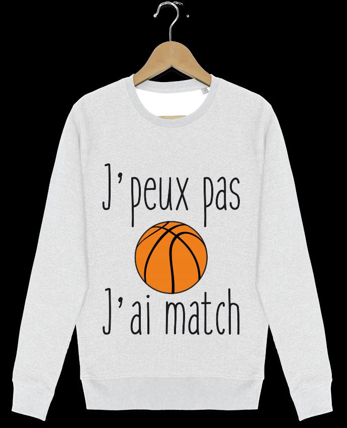 Sweat-shirt Stanley stella modèle seeks J'peux pas j'ai match de basket par Benichan