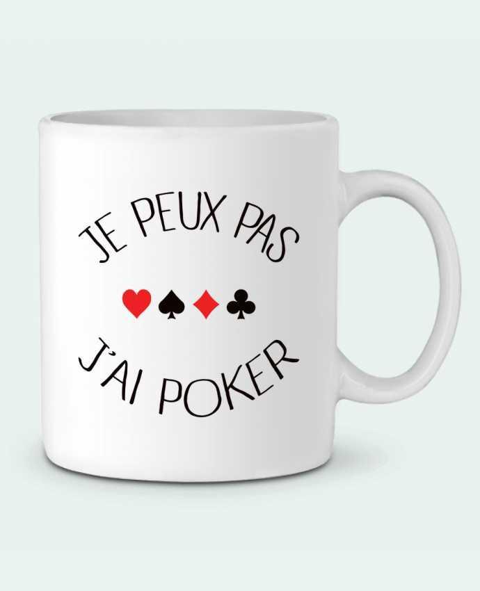 Mug en Céramique Je peux pas j'ai Poker par Freeyourshirt.com