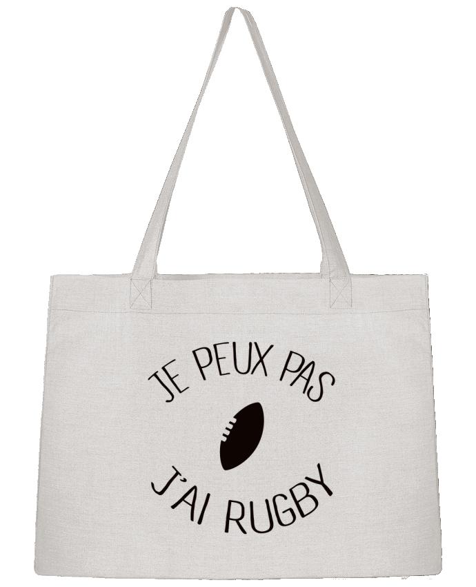 Sac Cabas Shopping Stanley Stella Je peux pas j'ai rugby par Freeyourshirt.com