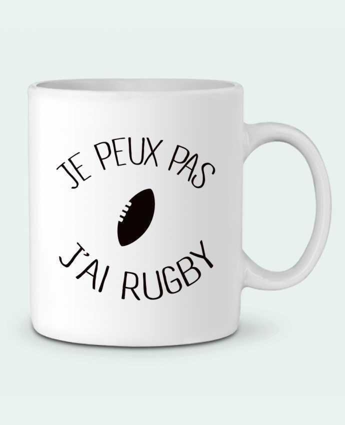 Mug en Céramique Je peux pas j'ai rugby par Freeyourshirt.com