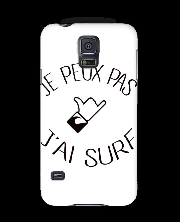 Coque 3D Samsung Galaxy S5 Je peux pas j'ai surf par Freeyourshirt.com