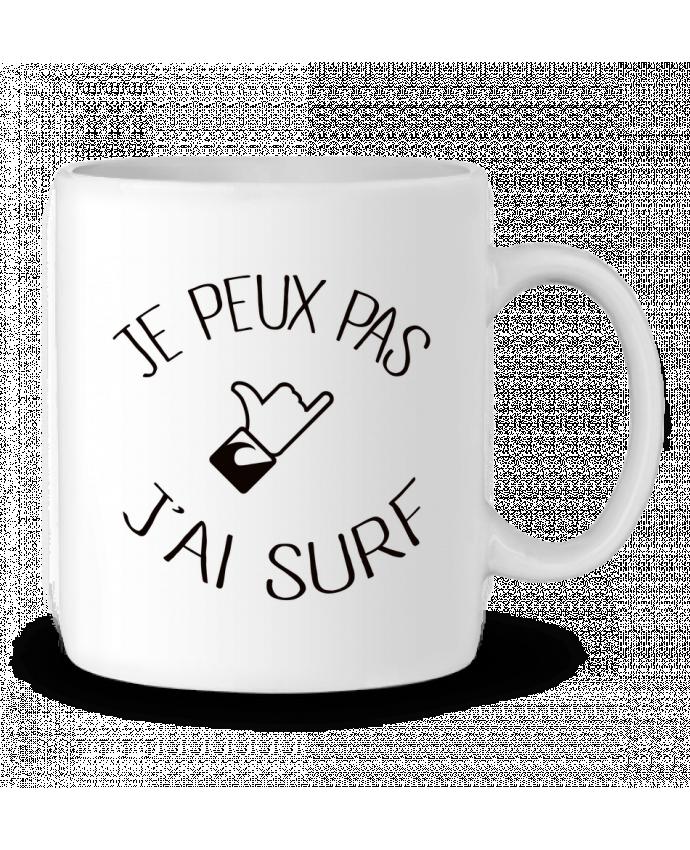 Mug en Céramique Je peux pas j'ai surf par Freeyourshirt.com