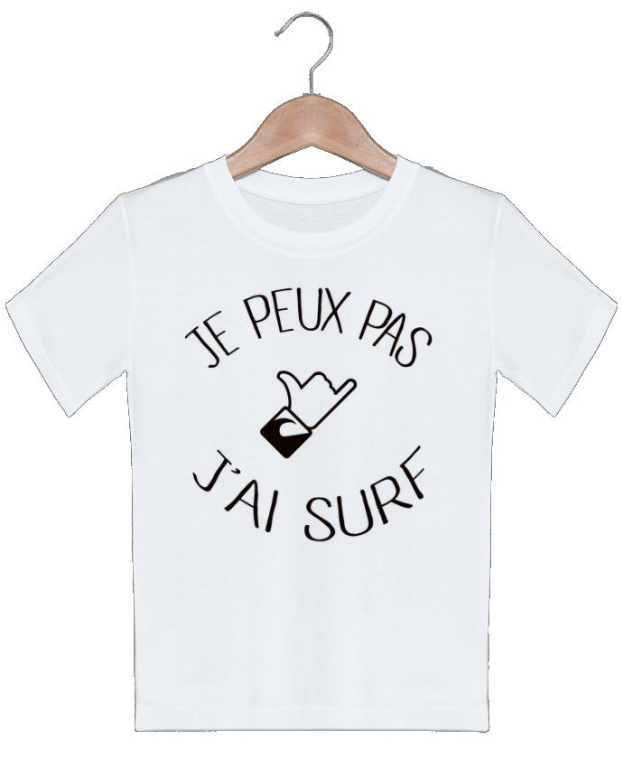 T-shirt garçon motif Je peux pas j'ai surf Freeyourshirt.com