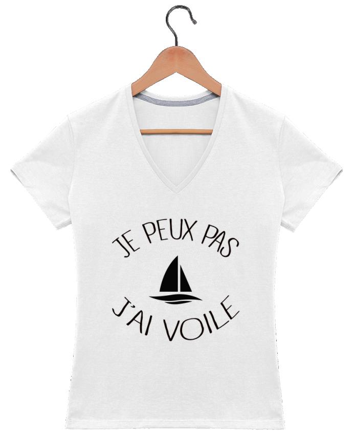 T-shirt Col V Femme 180 gr Je peux pas j'ai voile par Freeyourshirt.com