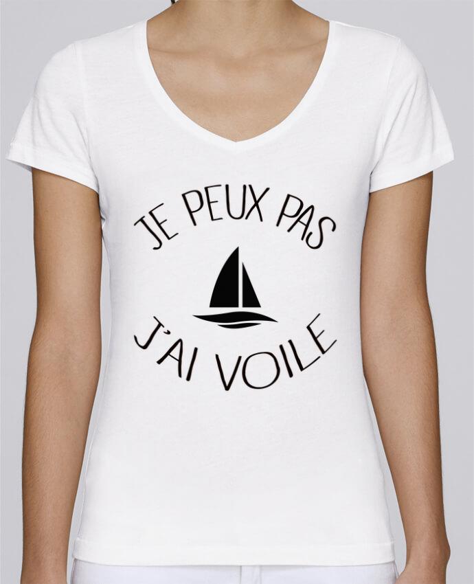 T-shirt Femme Col V Stella Chooses Je peux pas j'ai voile par Freeyourshirt.com