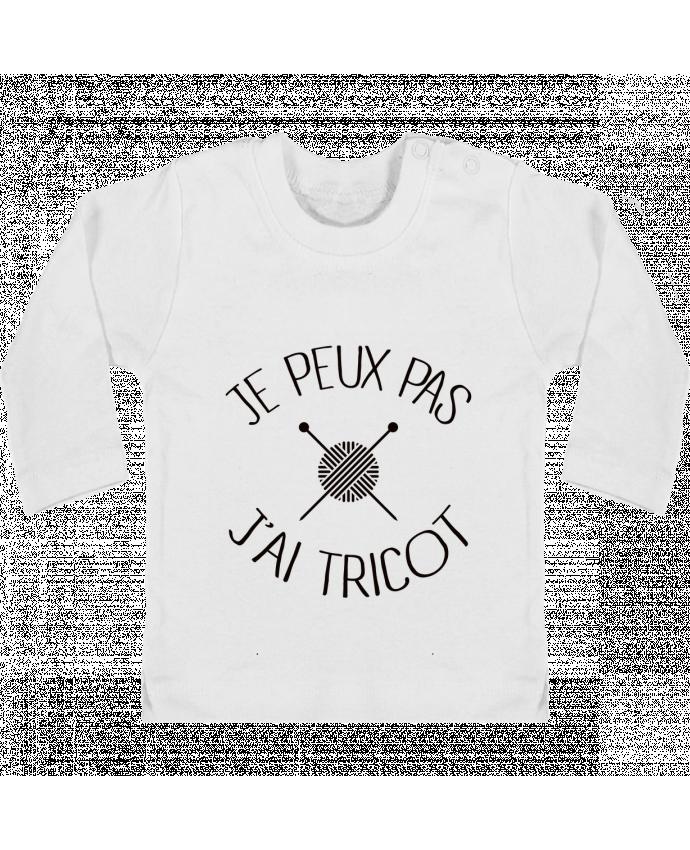T-shirt Bébé Manches Longues Boutons Pression Je peux pas j'ai tricot manches longues du designer Freeyourshirt.com