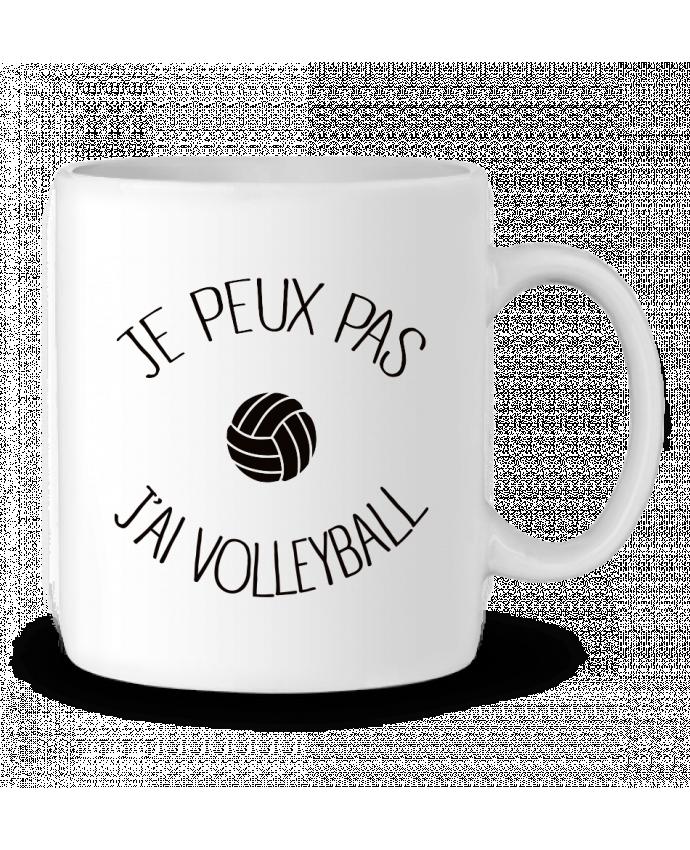 Mug en Céramique Je peux pas j'ai volleyball par Freeyourshirt.com