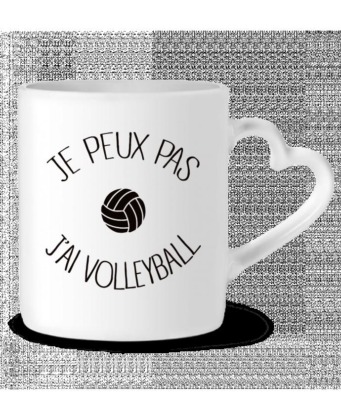 Mug Coeur Je peux pas j'ai volleyball par Freeyourshirt.com