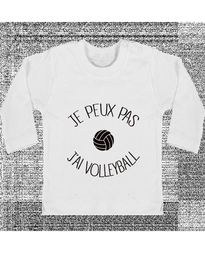 T-shirt Bébé Manches Longues Boutons Pression Je peux pas j'ai volleyball manches longues du designer Freeyourshirt.com