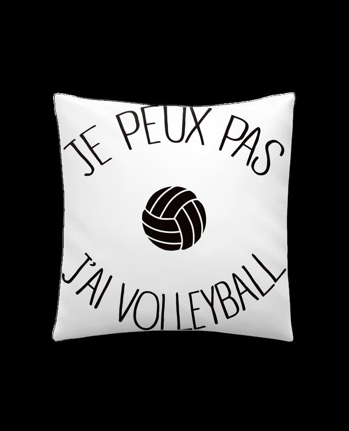 Coussin Synthétique Doux 41 x 41 cm Je peux pas j'ai volleyball par Freeyourshirt.com