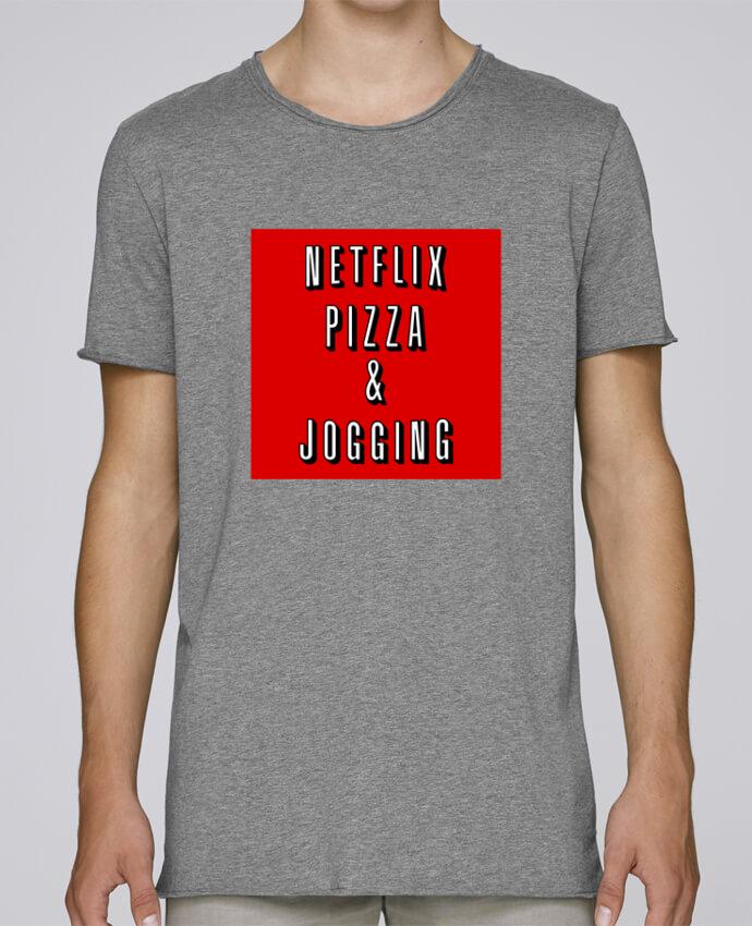 T-shirt Homme Oversized Stanley Skates Netflix Pizza & Jogging par WBang