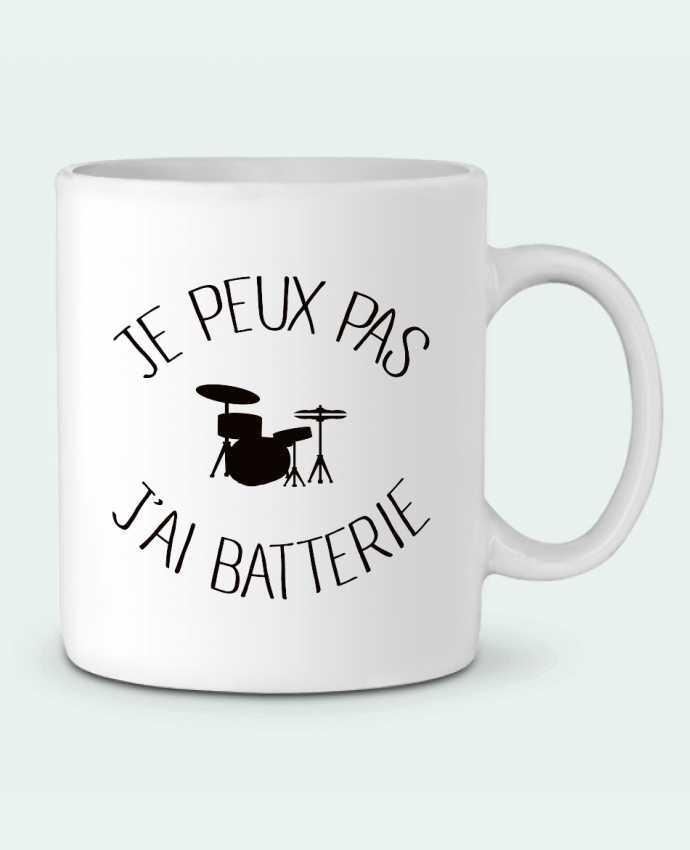 Mug en Céramique Je peux pas j'ai batterie par Freeyourshirt.com