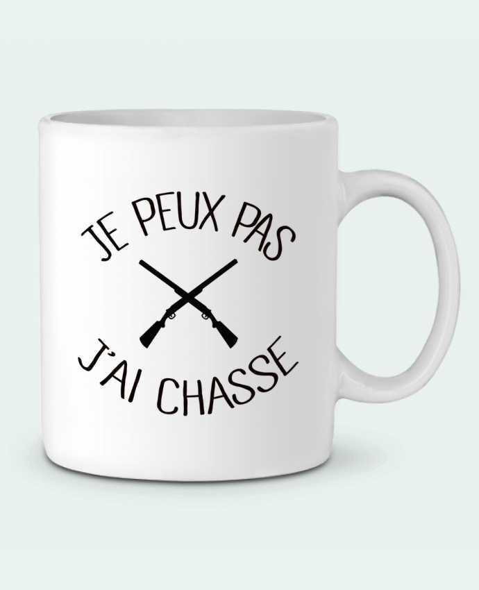 Mug en Céramique Je peux pas j'ai chasse par Freeyourshirt.com