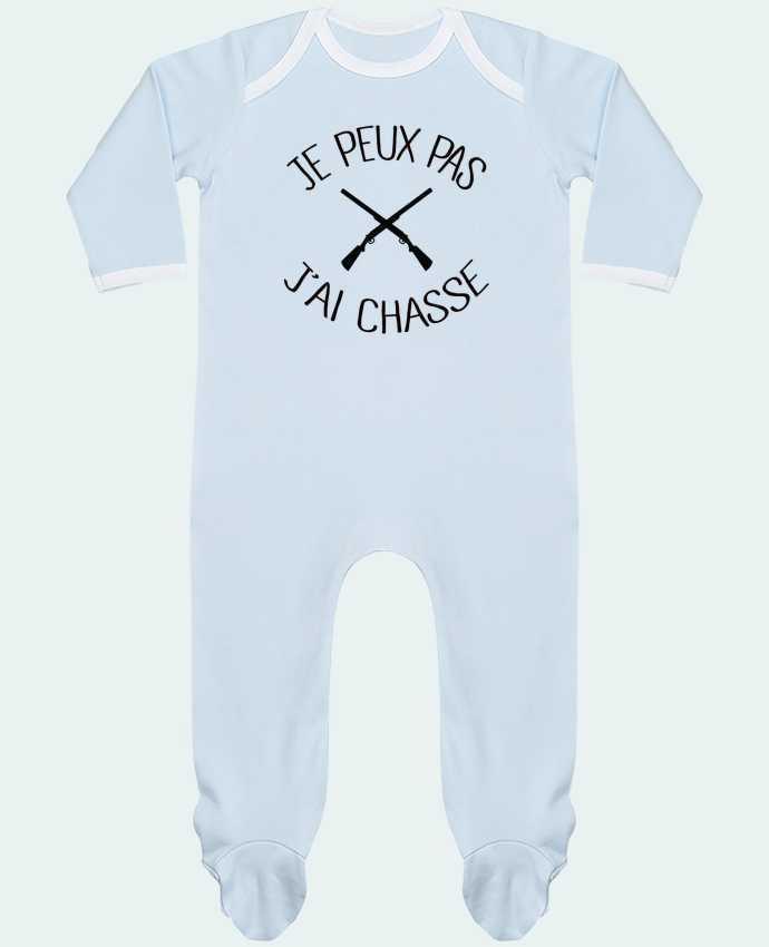 Pyjama Bébé Manches Longues Contrasté Je peux pas j'ai chasse par Freeyourshirt.com