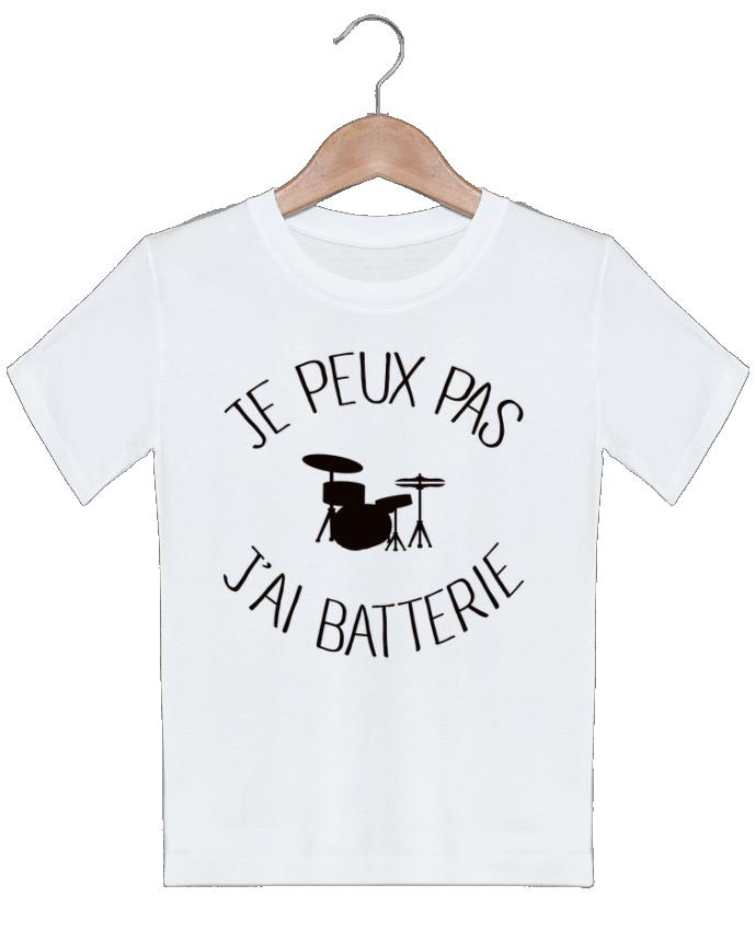 T-shirt garçon motif Je peux pas j'ai batterie Freeyourshirt.com