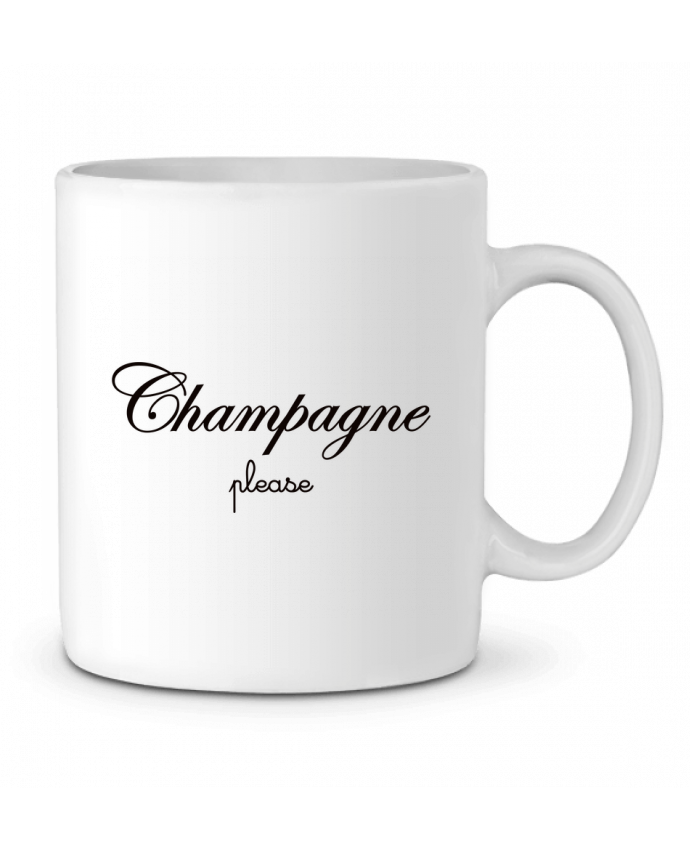 Mug en Céramique Champagne Please par Freeyourshirt.com