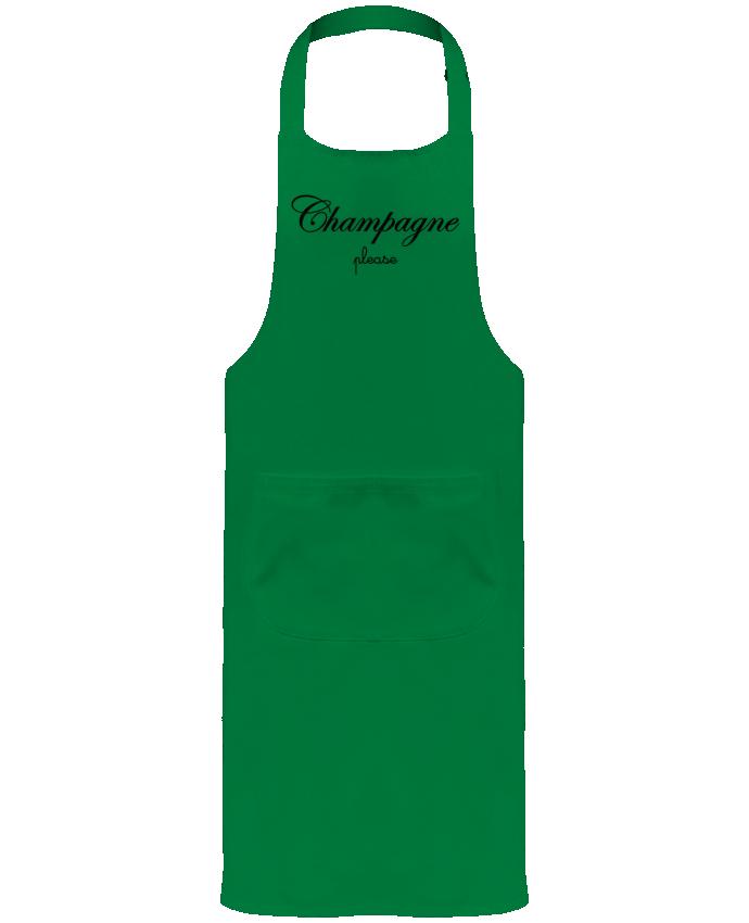 Tablier de Jardinier ou Sommelier avec Poche Champagne Please par Freeyourshirt.com
