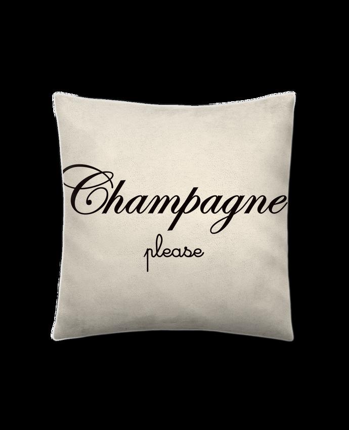 Coussin Toucher Peau de Pêche 41 x 41 cm Champagne Please par Freeyourshirt.com