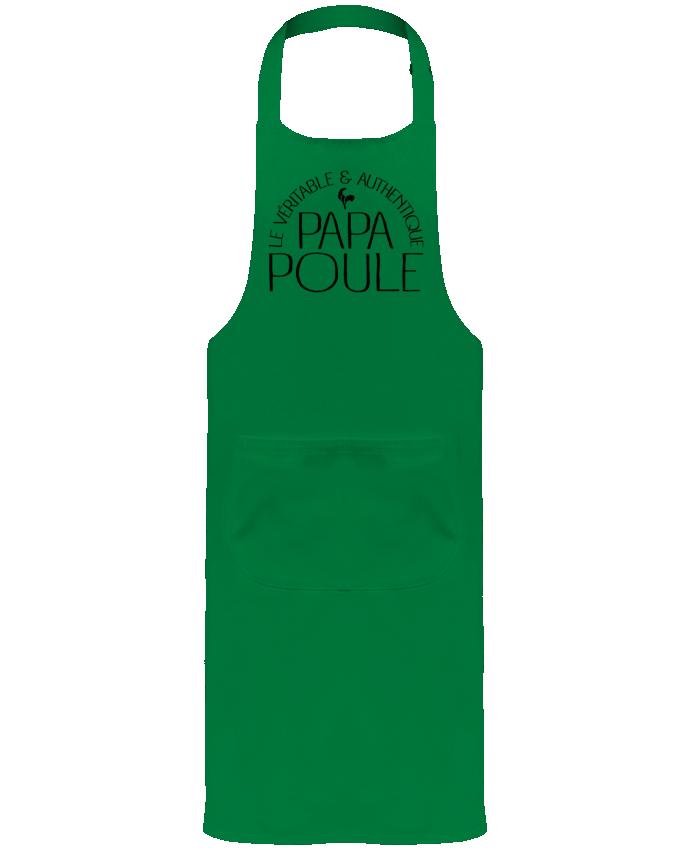Tablier de Jardinier ou Sommelier avec Poche Papa Poule par Freeyourshirt.com