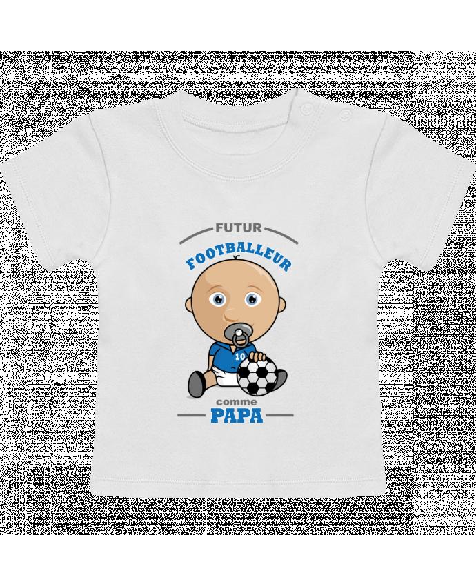 T-Shirt Bébé Manches Courtes Futur Footballeur comme papa manches courtes du designer GraphiCK-Kids