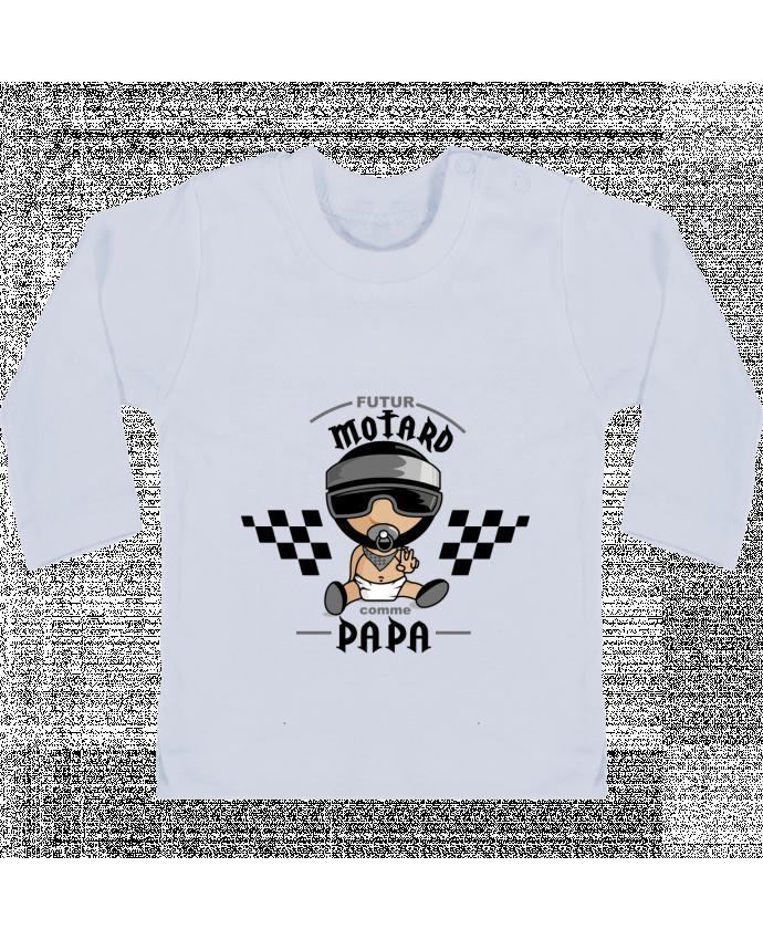 T-shirt bébé Futur Motard Comme Papa manches longues du designer GraphiCK-Kids
