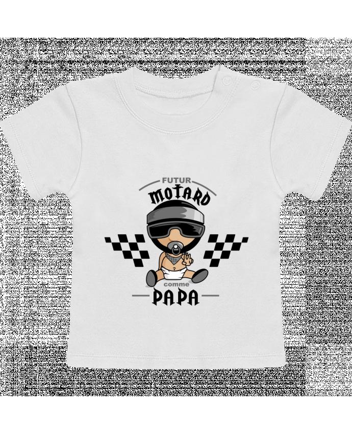 T-Shirt Bébé Manches Courtes Futur Motard Comme Papa manches courtes du designer GraphiCK-Kids