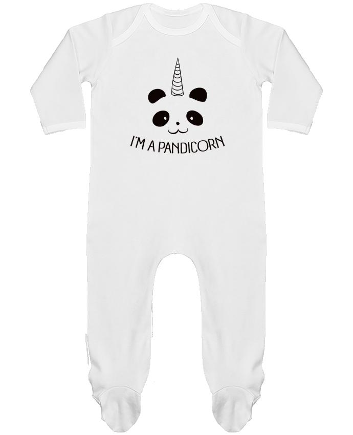 Body Pyjama Bébé I'm a Pandicorn par Freeyourshirt.com