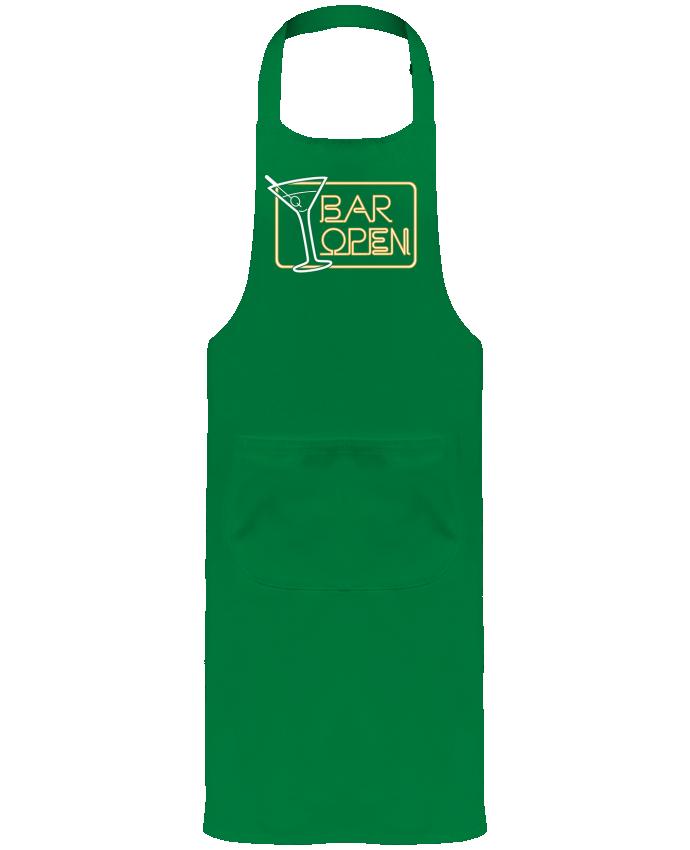 Tablier de Jardinier ou Sommelier avec Poche Bar open par Freeyourshirt.com