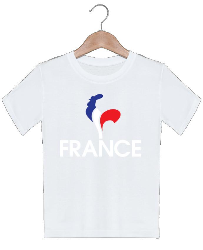 T-shirt garçon motif France et Coq Freeyourshirt.com