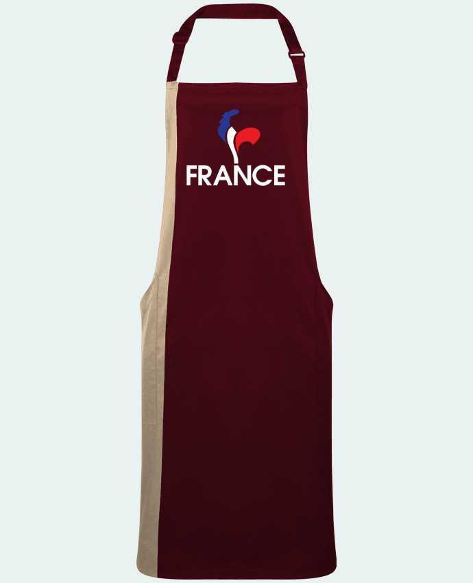 Tablier Long Bicolore France et Coq par  Freeyourshirt.com