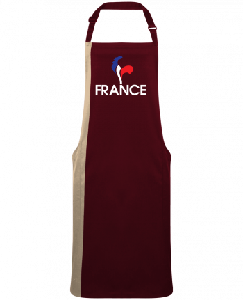 Tablier Long Bicolore France et Coq par  Freeyourshirt.com