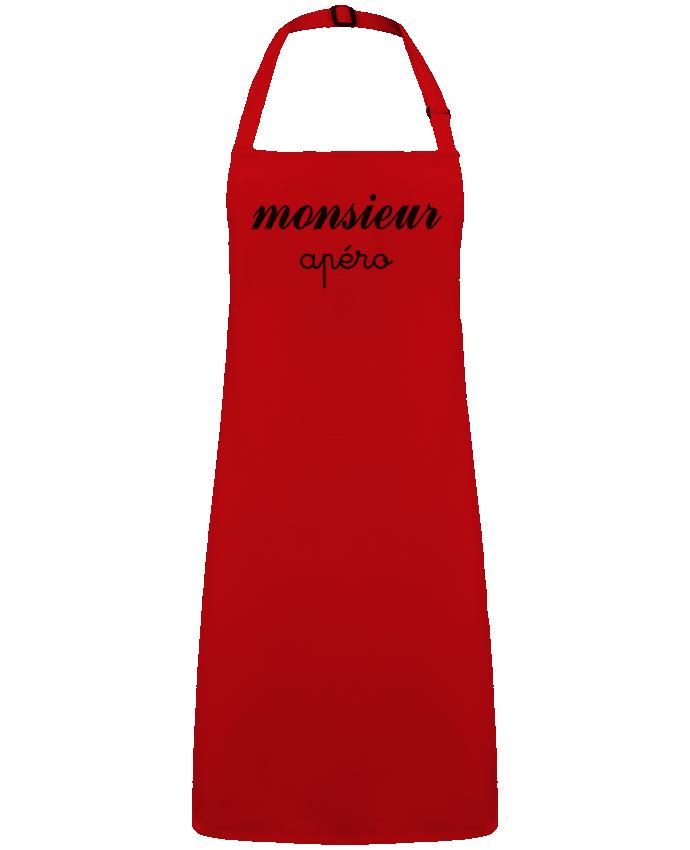 Tablier Sans Poche Monsieur Apéro par  Freeyourshirt.com