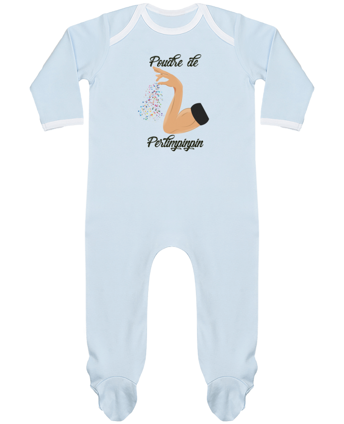 Pyjama Bébé Manches Longues Contrasté Poudre de Perlimpinpin par tunetoo