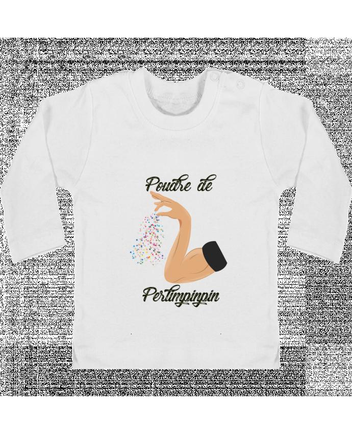 T-shirt bébé Poudre de Perlimpinpin manches longues du designer tunetoo