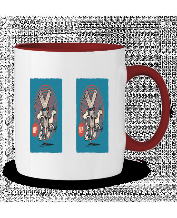 Mug en Céramique Bicolore YEP! Lance Pierre 3D YEP!