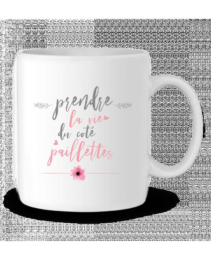 Mug en Céramique Prendre la vie du coté paillettes par tunetoo