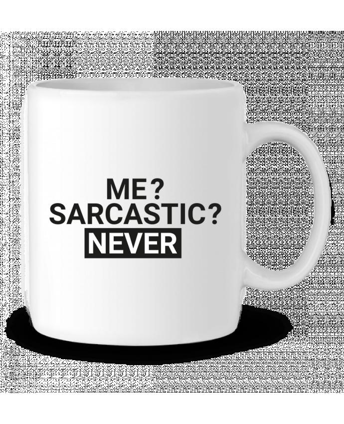 Mug en Céramique Me sarcastic ? Never par tunetoo